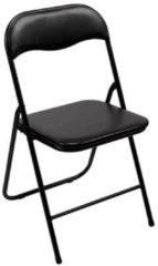 Campingstoel Perel folding chair padded Zwart FP168B