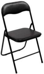 Perel folding chair padded Campingstoel Zwart FP168B