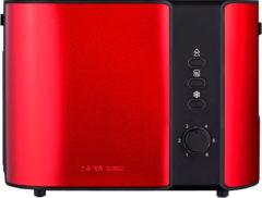 Broodrooster AT2217 Severin rood metallic/zwart