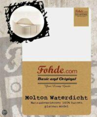 Witte Fohde - Molton - Waterdicht - 90x200cm - Plateau