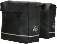 Dutch Cycle Bags - Fietstas - Dubbele Fietstas - 40 liter -Waterdicht- Zwart