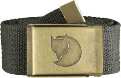 Grijze Fjällräven Fjallraven Canvas Brass Belt 4 cm Kledingriem - Unisex - Mountain Grey