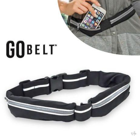 Afbeelding van Zwarte Go Belt sport heuptasje heupriem belt - Sport Heupband - Hardloopband - Sportband - Hardloop Riem