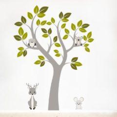 Muurstickerstunter Muurstickers babykamer boom met dieren