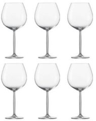 Transparante Schott Zwiesel Diva Wijnglazen Bourgogne 0,84 L - 6 st.