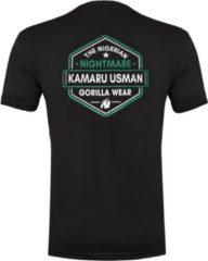 Gorilla Wear Kamaru Usman T-shirt - Zwart - 2XL