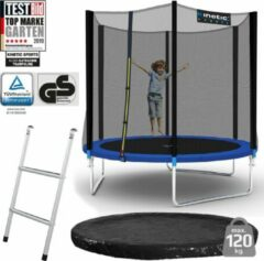 Merkloos / Sans marque Buiten Trampoline - 244 cm - Blauw - Incl. Ladder, Veiligheidsnet & Afdekzeil