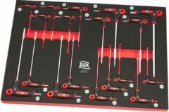 Zwarte AOK Professionele 18 Delige T-Grepen Foam Inlay
