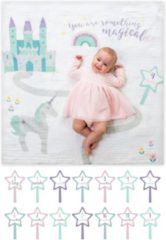 Witte Lulujo Baby's Firsy Year swaddle & cards - Something Magical