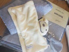 Marineblauwe Funnies BW Borduurwerken Baby kraampakket met naam geborduurd