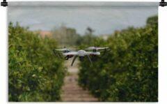 1001Tapestries Wandkleed Landbouw - Drone in de landbouw Wandkleed katoen 120x80 cm - Wandtapijt met foto