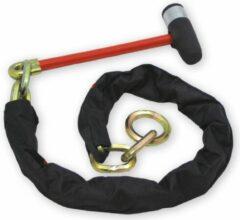 Zwarte Doublelock Loop Chain kettingslot 130cm - SCM