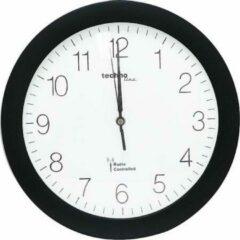 Zwarte Technoline Radio Gestuurde Klok 30 cm