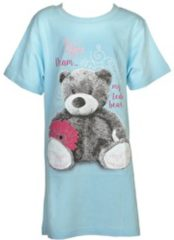 Blauwe Fun2Wear Bigshirt Teddy maat 104/110
