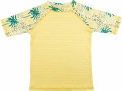 Ducksday - UV-werend Zwemshirt korte mouw voor kinderen - unisex - Cala - 122/128