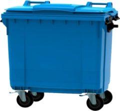 Ese 4 wiel container 660 liter blauw