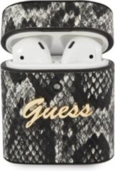 GUESS Python Snake Skin Apple AirPods Case Hoesje - Zwart