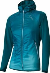 Löffler - Women's Hooded Jacket Speed Primaloft Next - Langlaufjas maat 44, blauw/turkoois