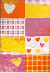 Impression Bambino Love Kinderkamer Vloerkleed Roze / Oranje Laagpolig - 160x230 CM