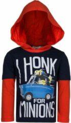 Zwarte Minions Longsleeve T-Shirt I Honk-98 (3 jaar)