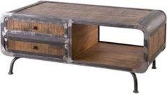 Möbel Ideal Couchtisch Saigon aus Mangoholz und Metall 120 x 60 cm