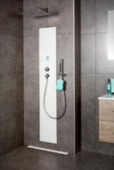 Waterbesparende Regendouche XenZ Upfall Excellent Tray 90x120x13.5 cm Thermostatisch Vierkant 30x30 cm Wit