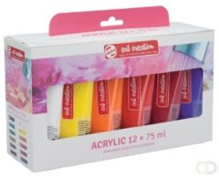 Talens Art Creation Acrylverf Tube Van 75 Ml, Set Van 12 Tubes In Geassorteerde Kleuren