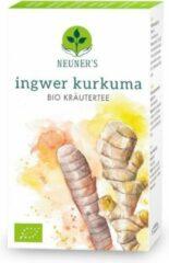 Neuner's - BIO - Gember-Kurkuma - biologische kruidenthee - gember thee - kurkuma thee - 12 kruidenmix - 1 doosjes x 20 zakjes = 40 gram - goed voor 10 liter thee.