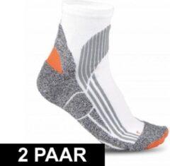 Merkloos / Sans marque 2x paar hardloop sportsokken voor volwassenen in maat 43-46
