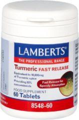 Lamberts Curcuma Fast Release (Turmeric) 60 tabletten