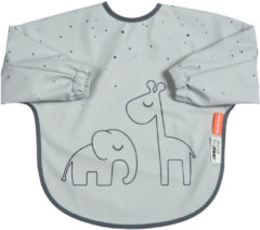 Done by Deer Baby Accessoires Sleeved Bib 6-18M Dreamy Dots Grijs
