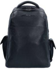 BagMotic Business Rucksack Leder 43 cm Laptopfach Piquadro nero