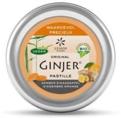 Lemon Pharma Ginjer Original Gember Pastilles Sinaasappel Bio (40g)