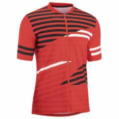 Gonso Agno Fietsshirt - Maat M - Mannen - rood/zwart/wit