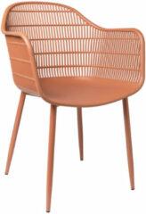 Oranje Xenos Tuinstoel Elisa - terra cotta - 63x53x85 cm