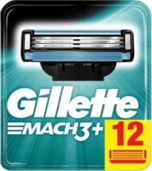 Fusion Gillette Mach3+ Scheermesjes Voor Mannen, 12 Navulmesjes