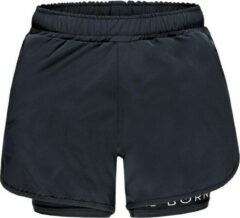 Re-Born Sports Re-Born 2 Laagse Stretch Short Dames - Zwart - Maat XL