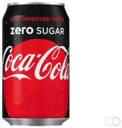 Afbeelding van Coca-Cola Frisdrank Coca Cola Zero blikje 0.33l
