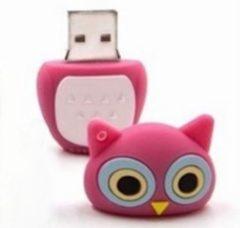 Roze Uil - USB-stick - 8 GB - LeuksteWinkeltje