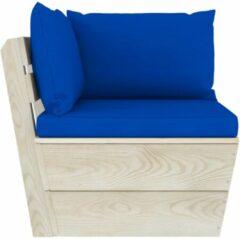 Blauwe VidaXL Tuinbank 2-zits met kussens pallet vurenhout