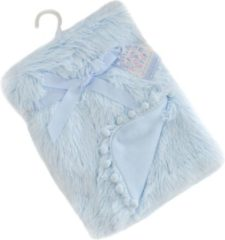 Softtouch Soft Touch Babydeken Pompom Deluxe 75 X 100 Cm Blauw