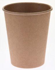 Bruine Merkloos / Sans marque 10x stuks duurzame gerecyclede papieren koffiebekers/drinkbekers 250ml - Milieuvriendelijk en biologisch afbreekbaar - wegwerp bekers
