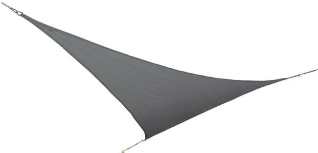 Afbeelding van Grijze Bo-Camp Bo-Garden Schaduwdoek - Driehoek - 3,6x3,6x3,6 Meter - Antraciet