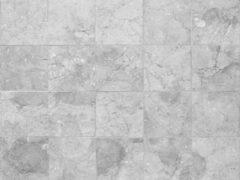 Vloerkledenopvinyl.nl Vinyl Vloerkleed |Rough marble grey, Grijze tegels | 100x100cm
