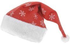 Rode GKS Kerstmuts met Dessin 40x30cm (set van 2 stuks)