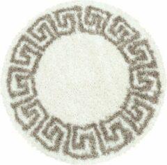 HERA SHAGGY Himalaya Pera Soft Shaggy Rond Hoogpolig Vloerkleed Creme / Beige- 200 CM ROND