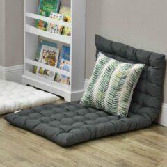 En.casa Vloerkussen loungekussen zitkussen 120x60 cm donkergrijs