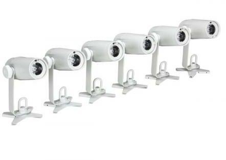 Afbeelding van Witte Velleman LED-SPOT PAKKET- 6 x LED-SPOT MET LADER EN KLEURFILTERS (VDLLBPS6)