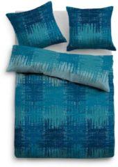 TOM TAILOR TOM TAILOR Unisex Bettwäsche mit verwischtem Muster, blue-bird / blue, Größe: 135/200, blau, kariert, Gr.135/200