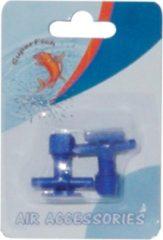 Blauwe Superfish luchtslang kraan - aquarium - beluchting - 1 x 2 kranen